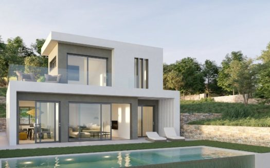 New Villa With Sea Views in Pedreguer