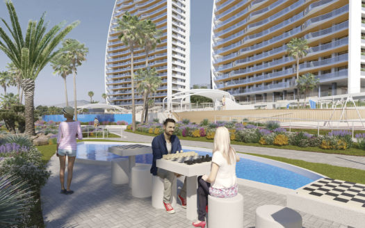 Apartments With Sea Views 200 Meters From the Beach in Benidorm