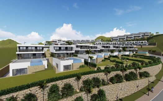New build villa with sea views in a residential complex in Finestrat