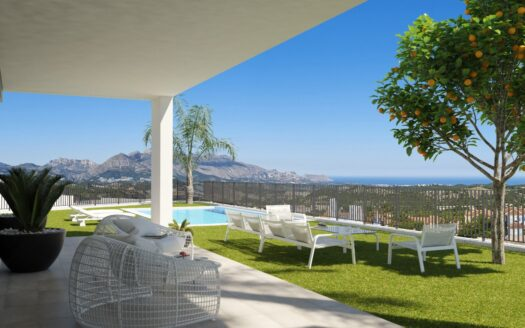 New villa with panoramic views in Polop