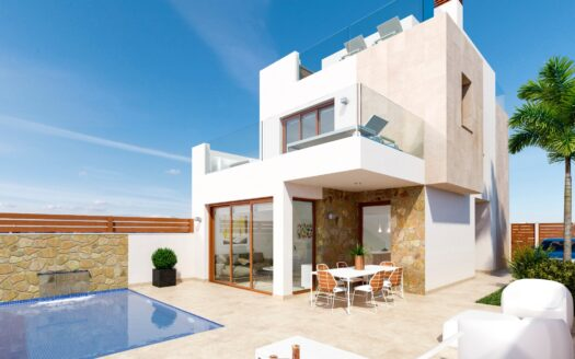 Luxury new build villas for sale with sea views in Pilar de la Horadada