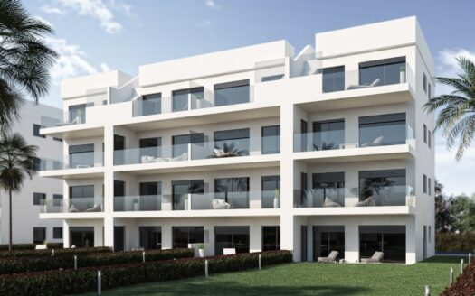 New build apartments with fabulous first line views to the golf course