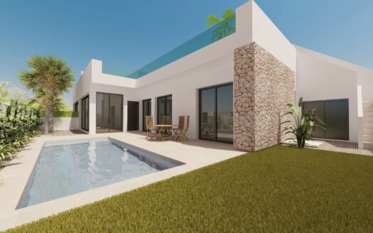Superb three bedroom villa whith private pool in Pilar de la Horadada