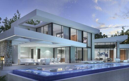 High-tech villa with sea views within walking distance of Moraira