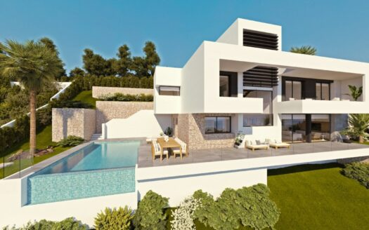 New Villa with breathtaking Sea views in an exclusive area of Altea