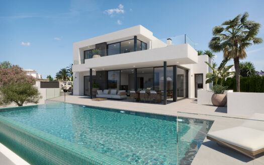 Project of the villa in construction in Moraira