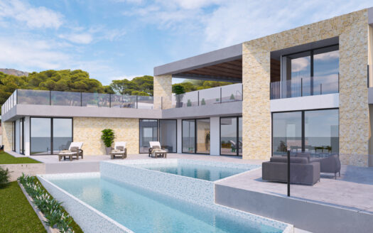 LOCATION AND LUXURY! Modern new villa with sea views in Moraira